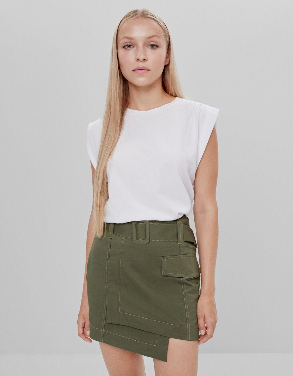 Short skirt with belt - Skirts - Woman