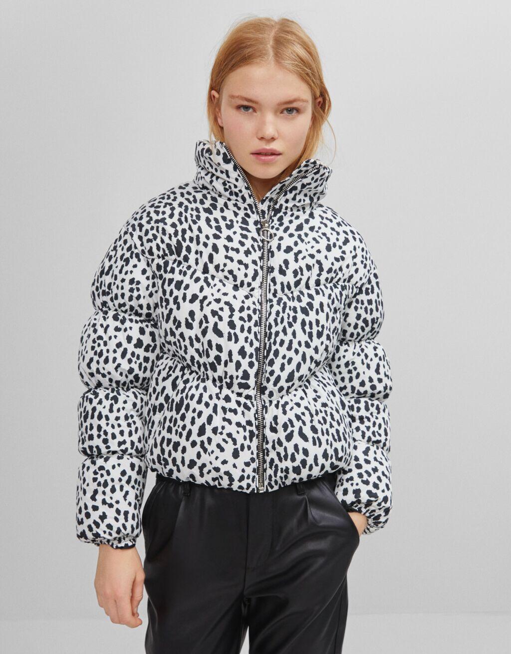 Куртка со сборками и наполнителем