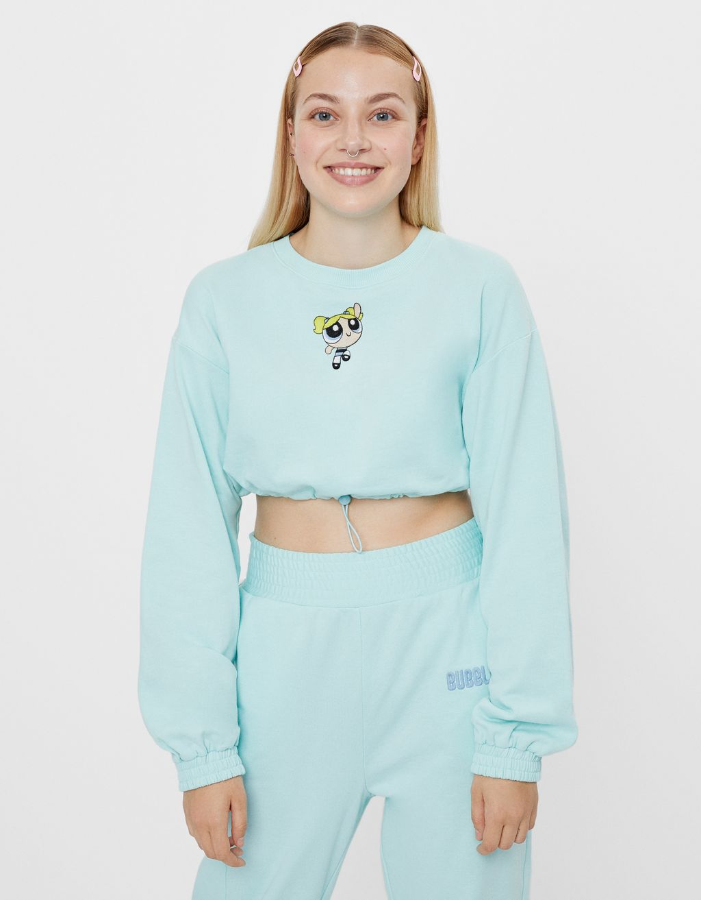 Cropped Powerpuff Girls sweatshirt