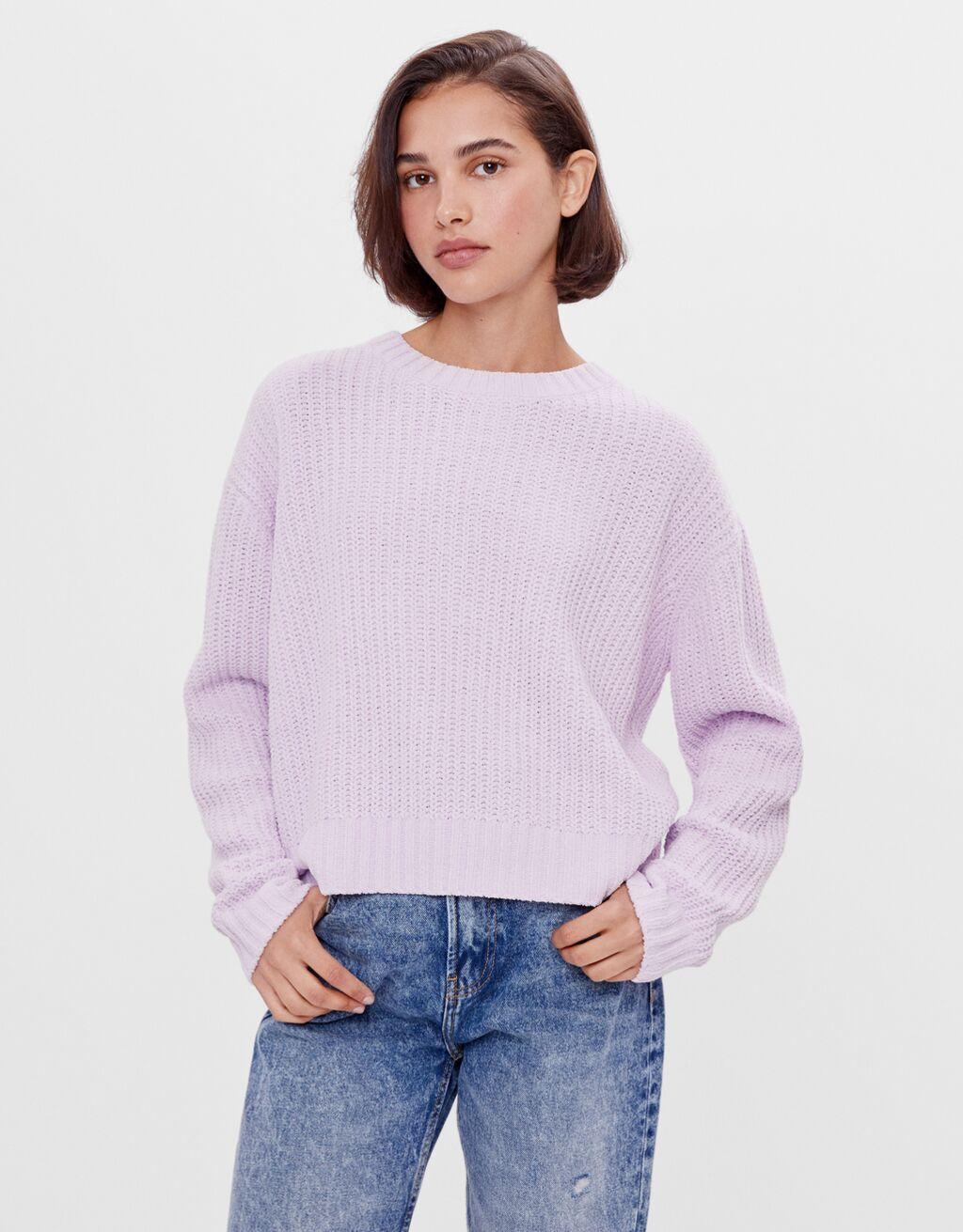 シェニール織りセーター