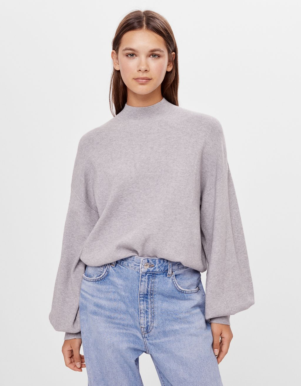 Wide high neck sweater