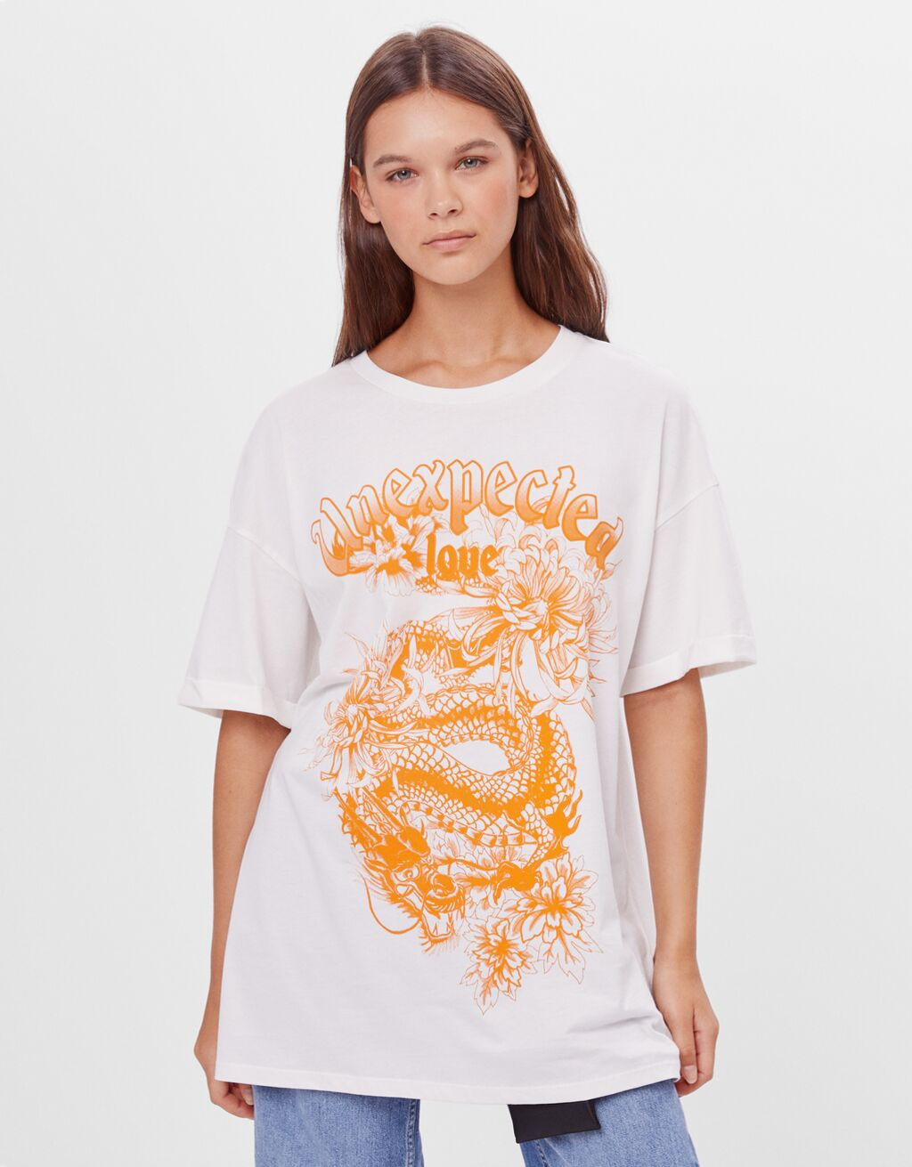 T-shirt with dragon print