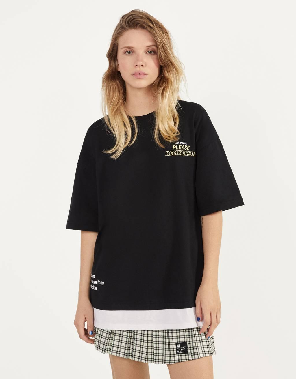 ダブルレイヤードTシャツ