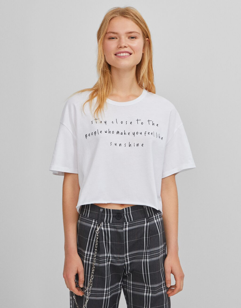 T-shirt cropped UV React