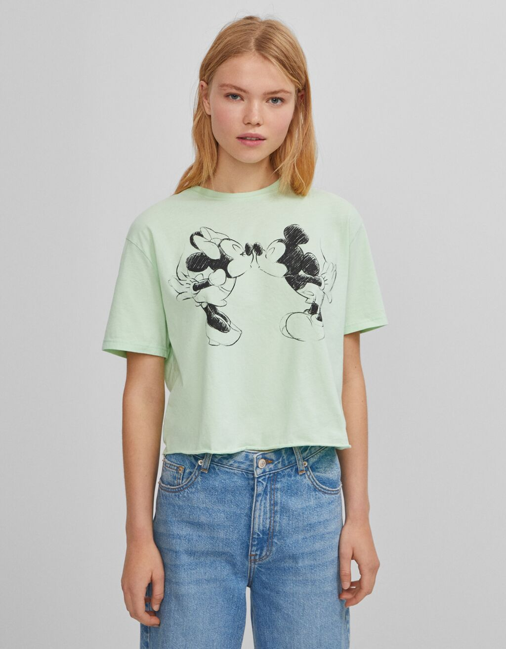 Cropped Mickey Mouse T-shirt