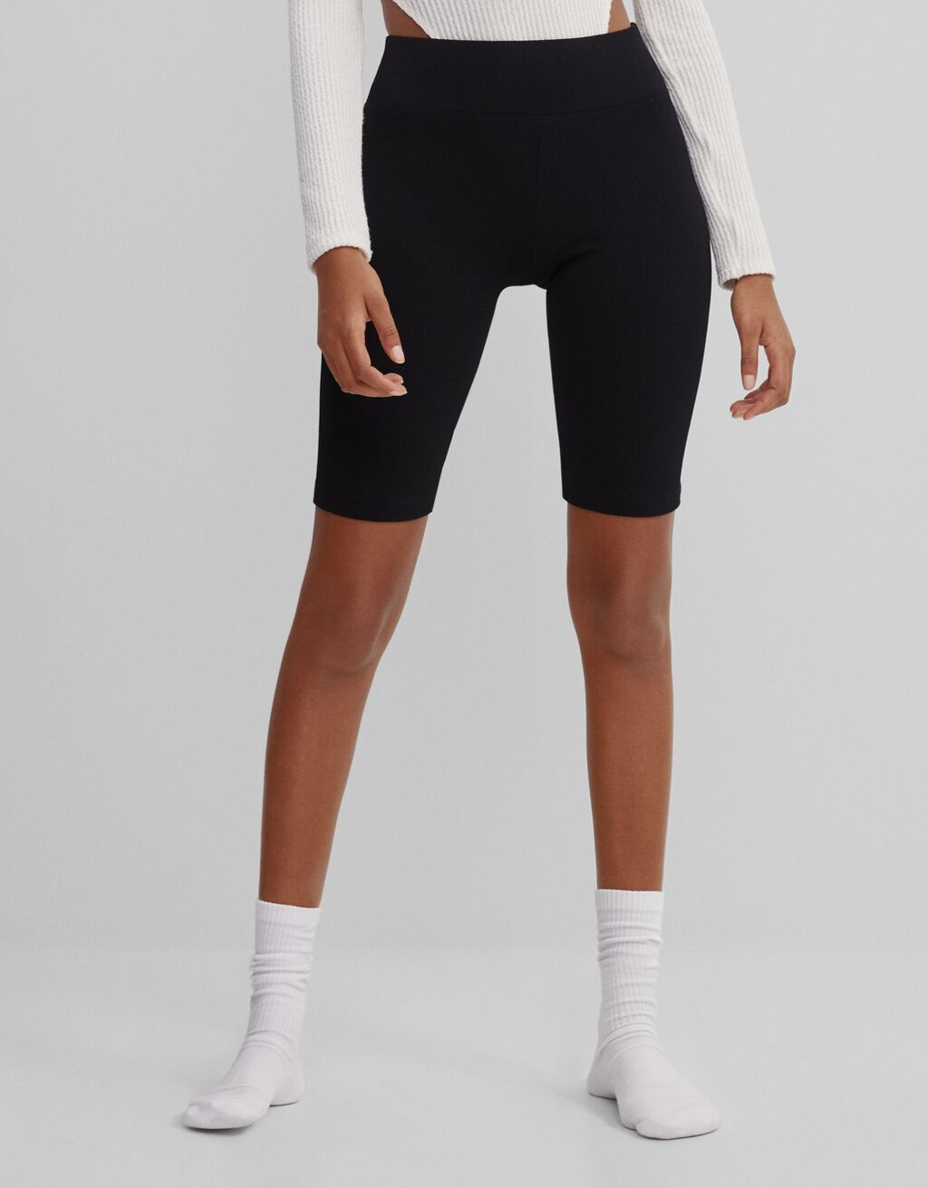 Ribbed cycling shorts
