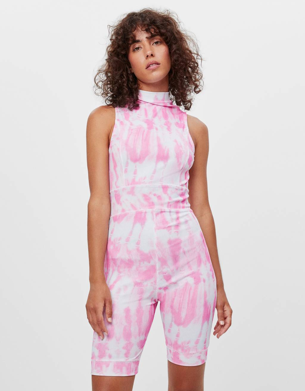 Tie-dye cycling playsuit