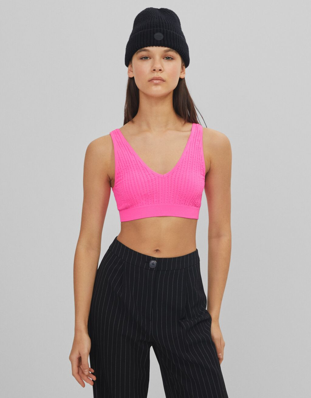 Textured top with straps