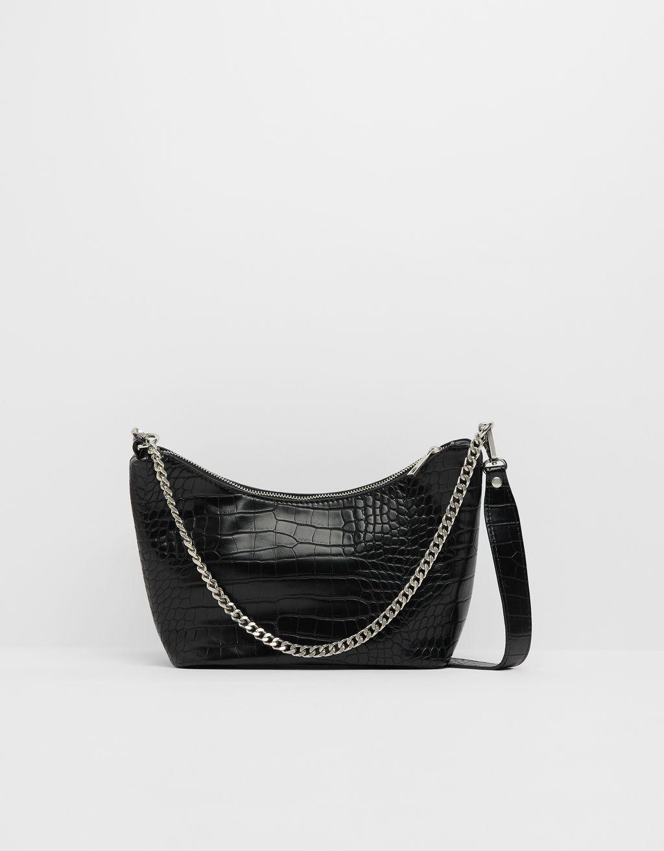 Tasche mit Krokoprägung