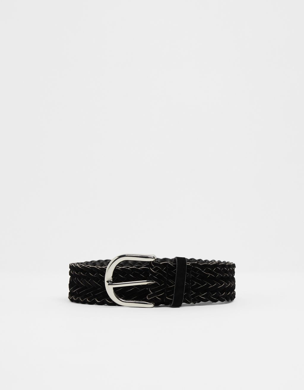 Braided velvet belt
