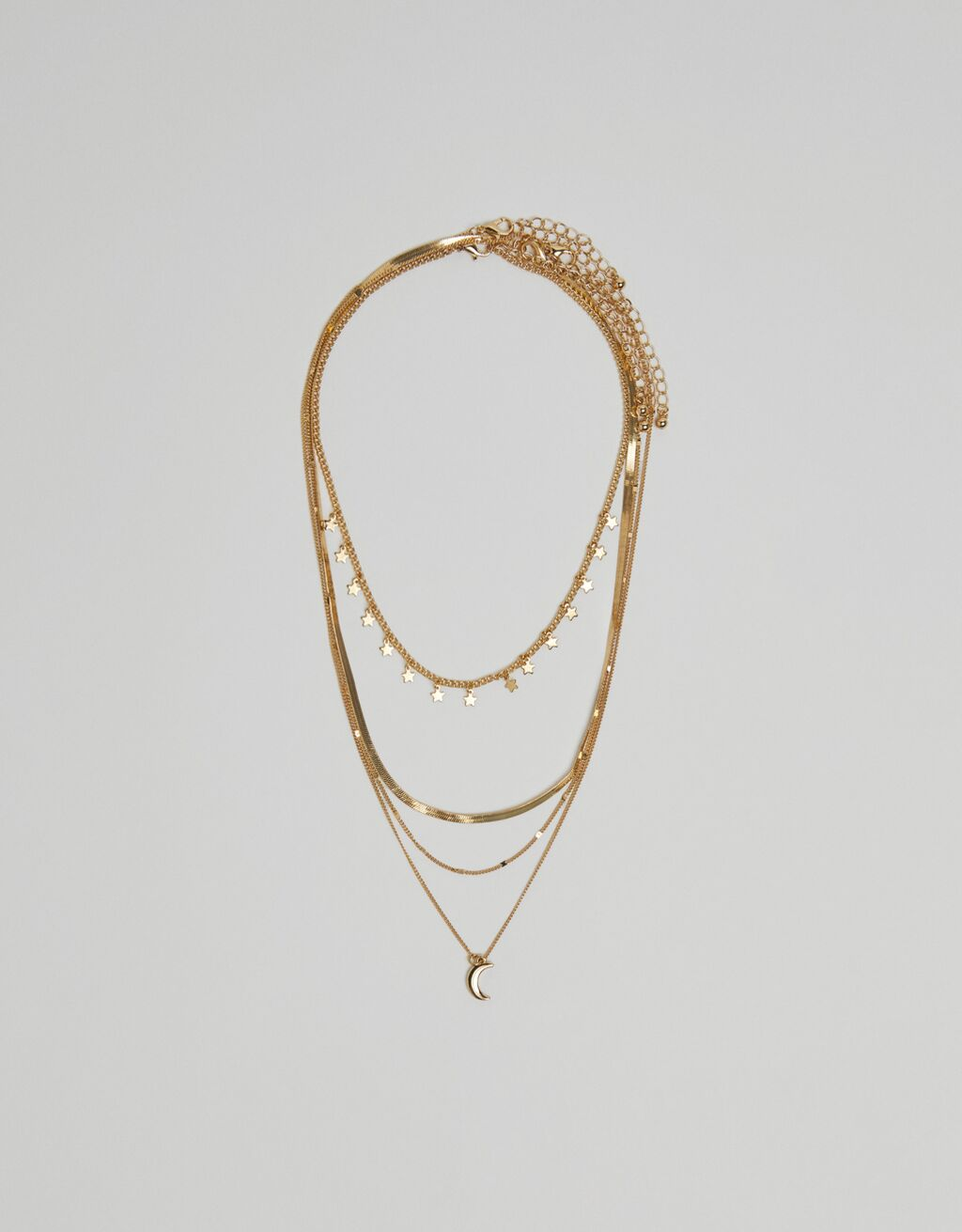 Multi-strand cosmos necklace