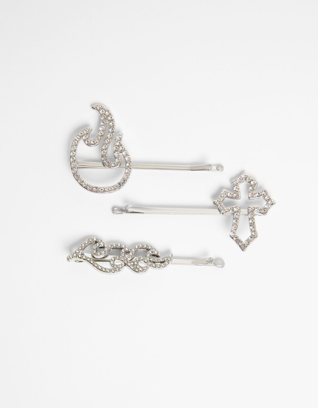 Pack of rhinestone hair clips