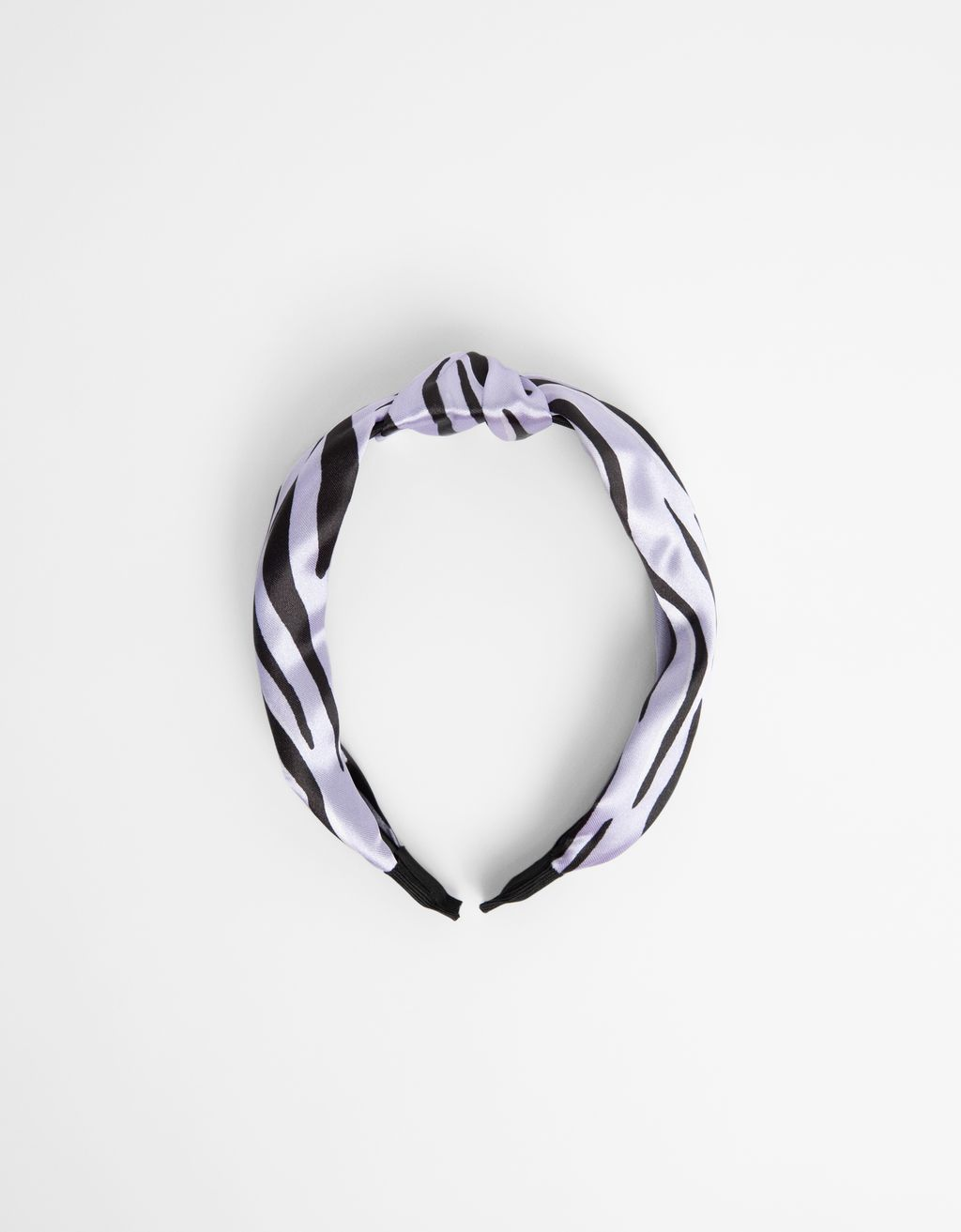Satiny flame print headband