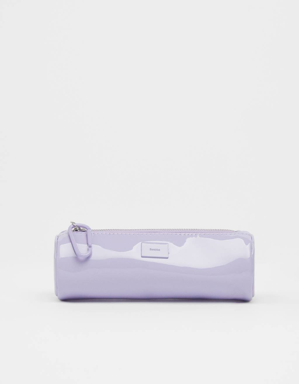 Patent-finish pencil case with lobster clasp