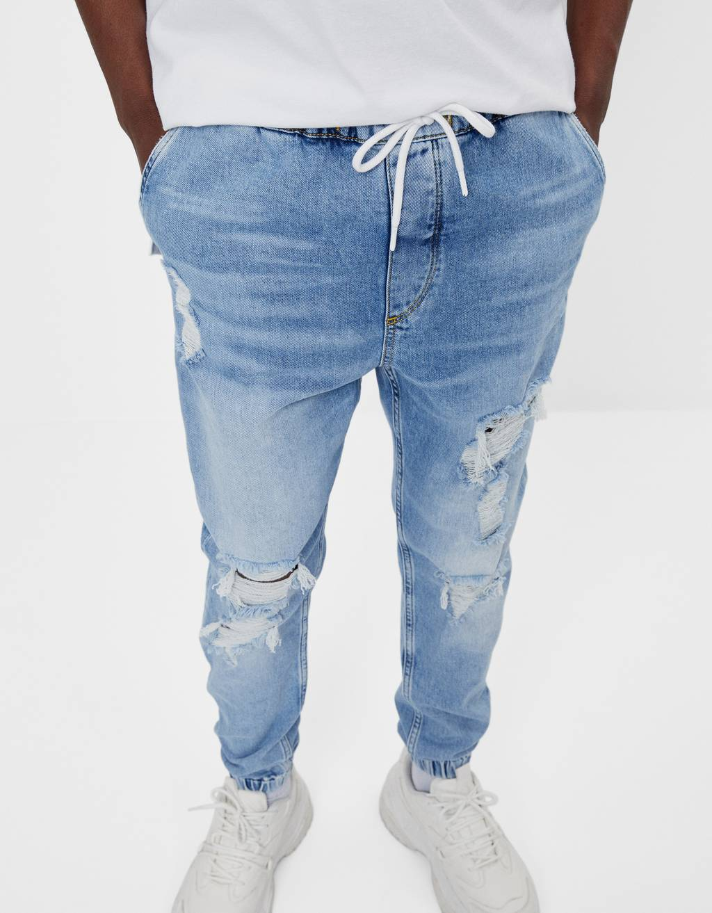 Ripped Jogger Jeans Shoes Bershka Dominican Republic