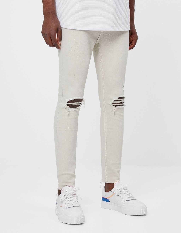 Jeans super skinny déchiré