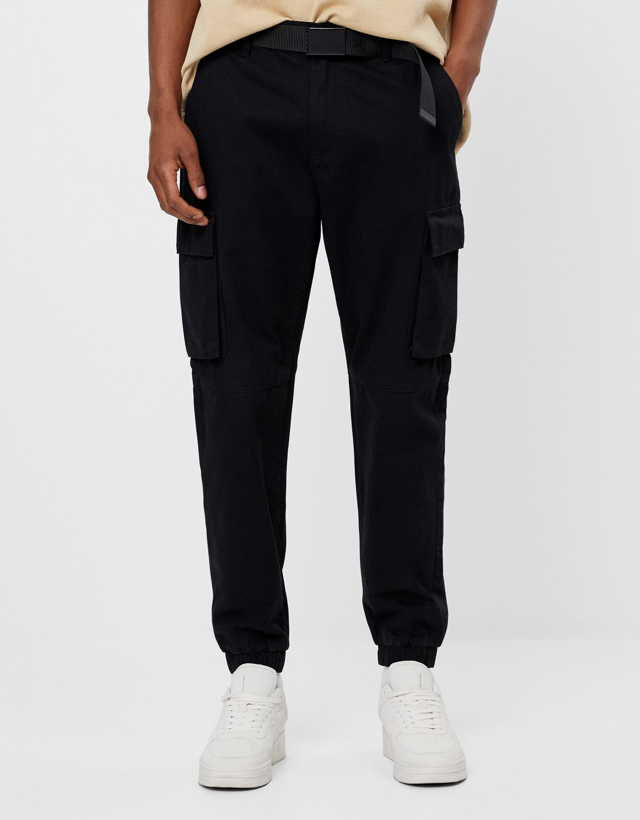 Belted Cargo Trousers Tailoring Bershka Dominican Republic