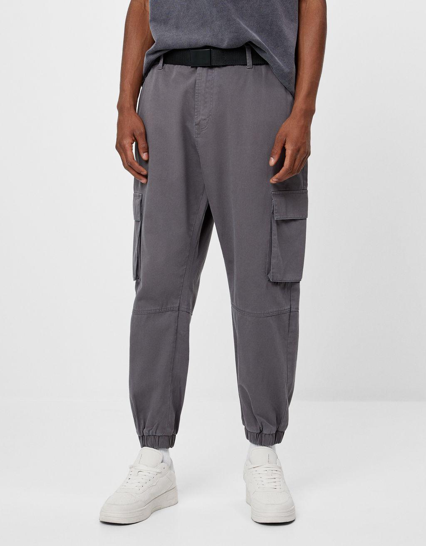 Pantaloni cargo con cintura
