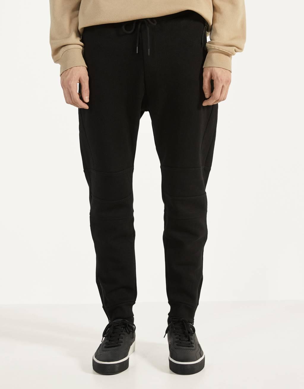 Jogging trousers in ottoman weave