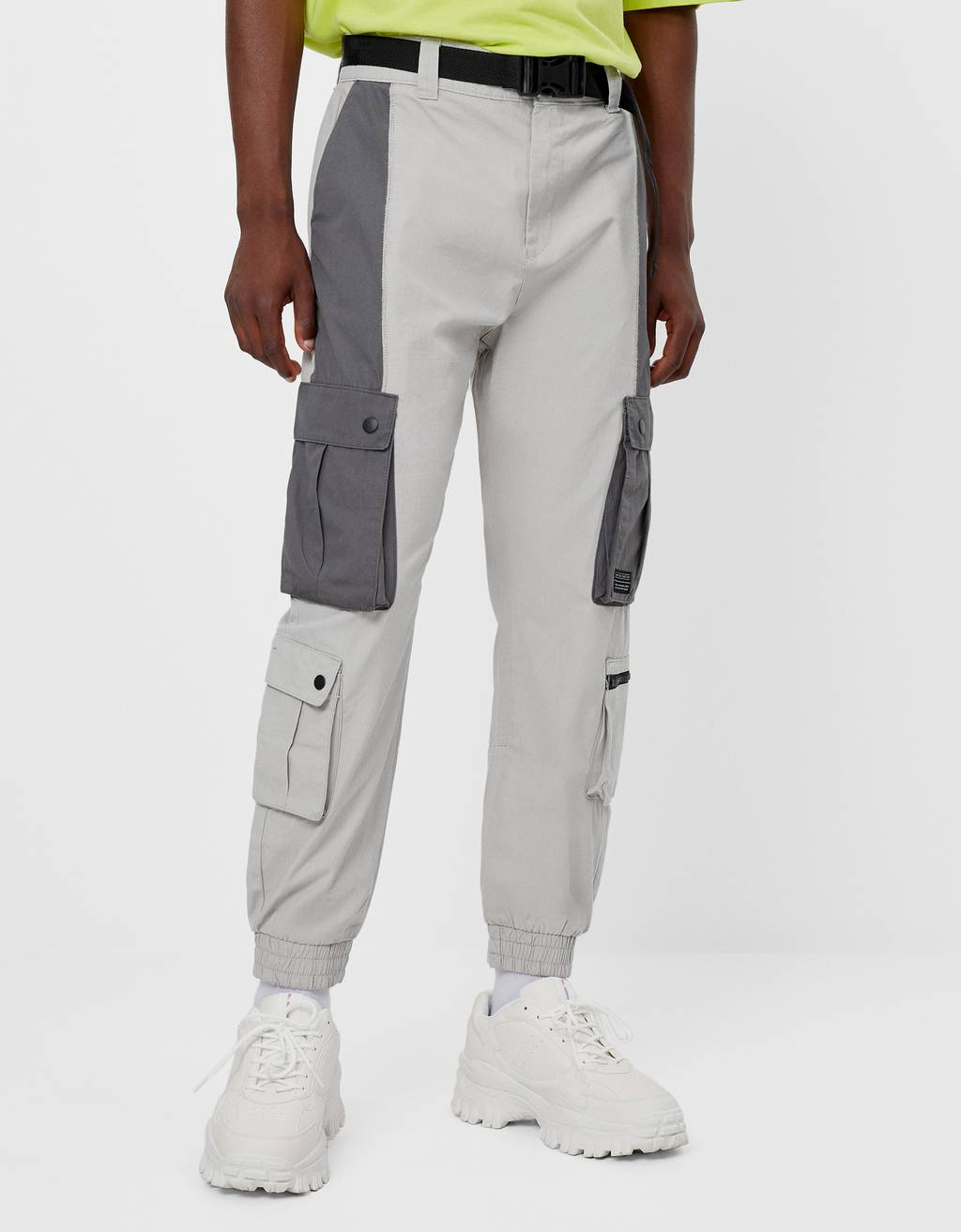 Cargo trousers with contrast details