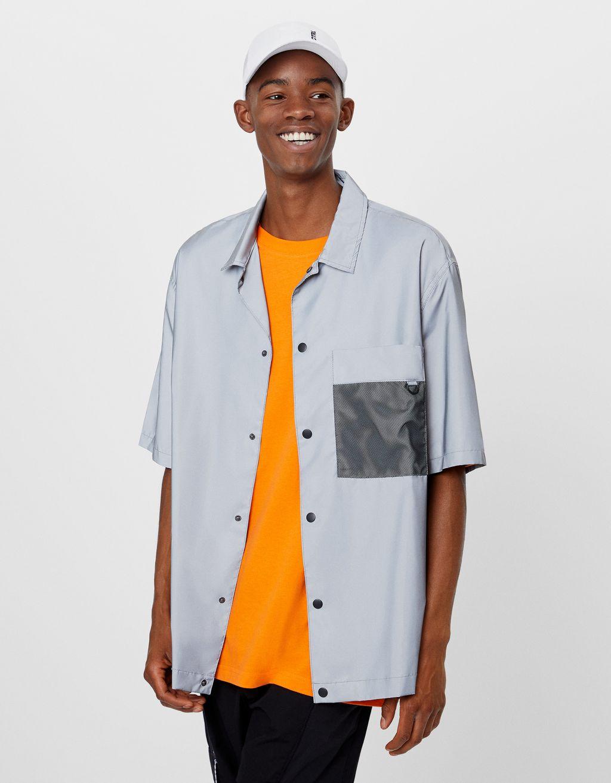 Skjorta med reflexeffekt