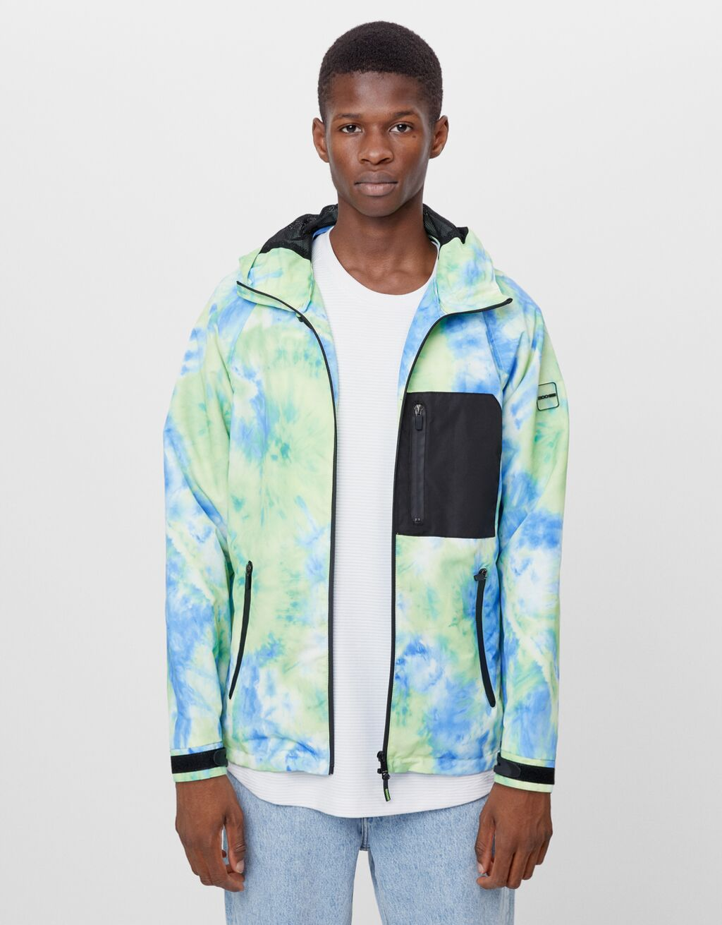 Tie-dye hooded jacket