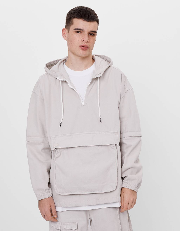 Denim jacket with detachable sleeves