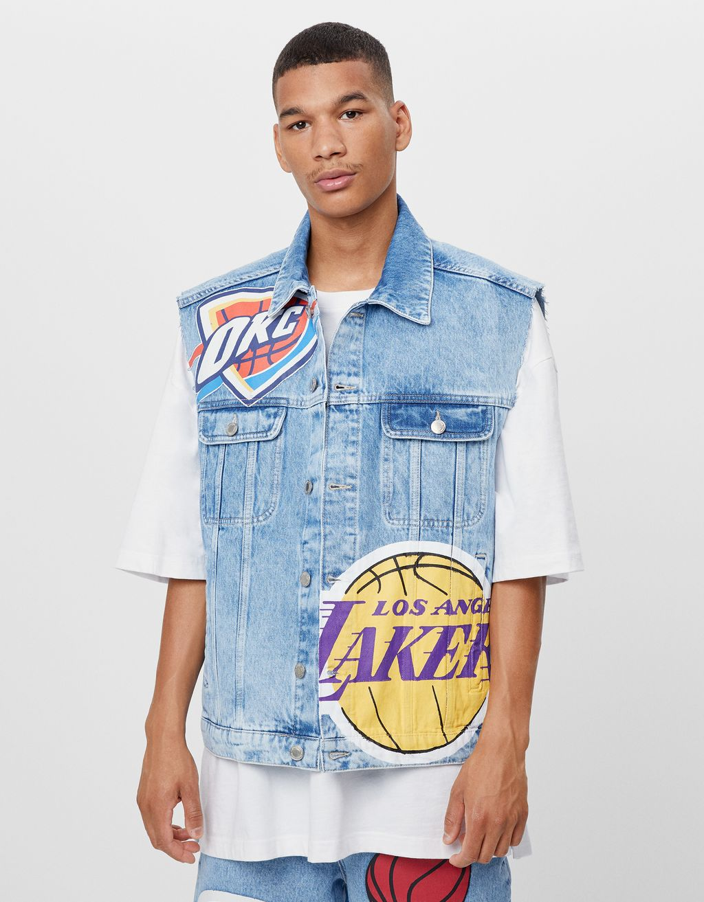 Vestă denim NBA