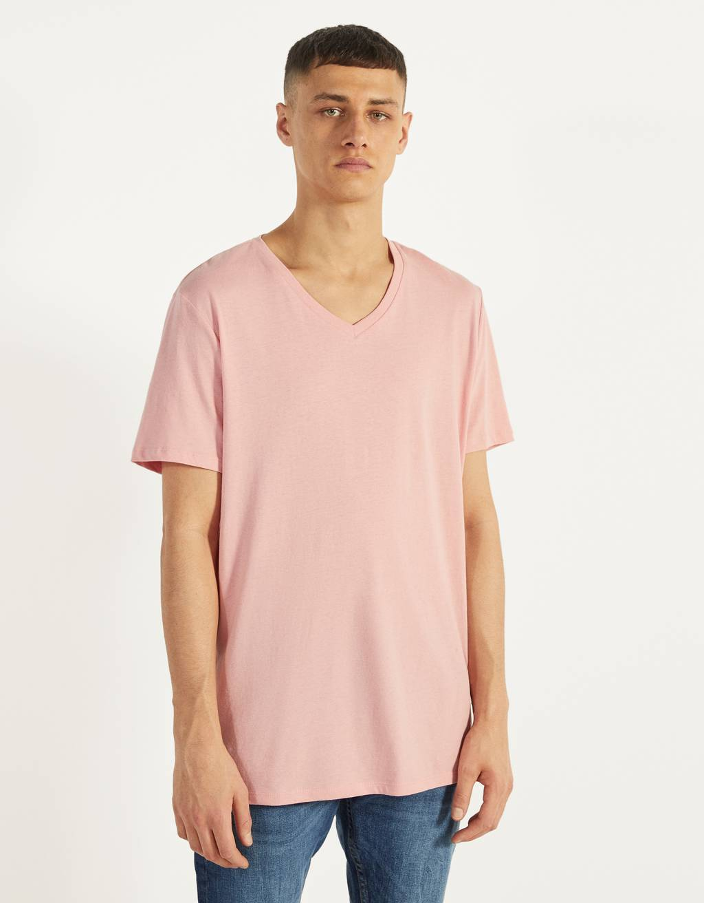T-shirt à col en V