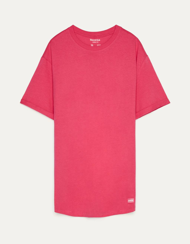 T-shirt long à manches courtes