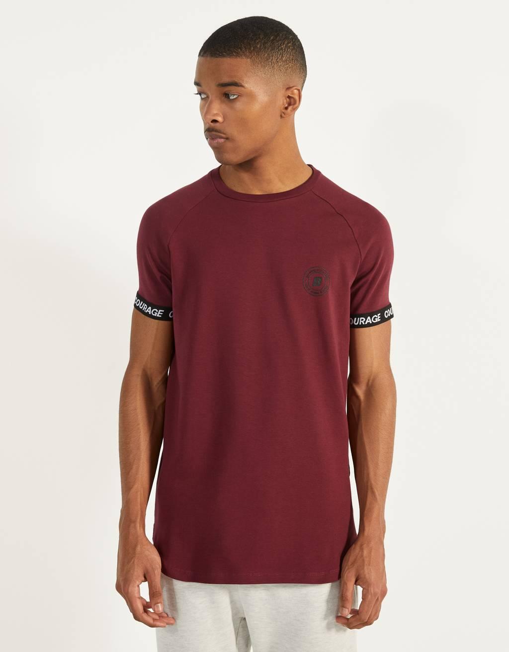 T-shirt muscle fit avec inscriptions graphiques