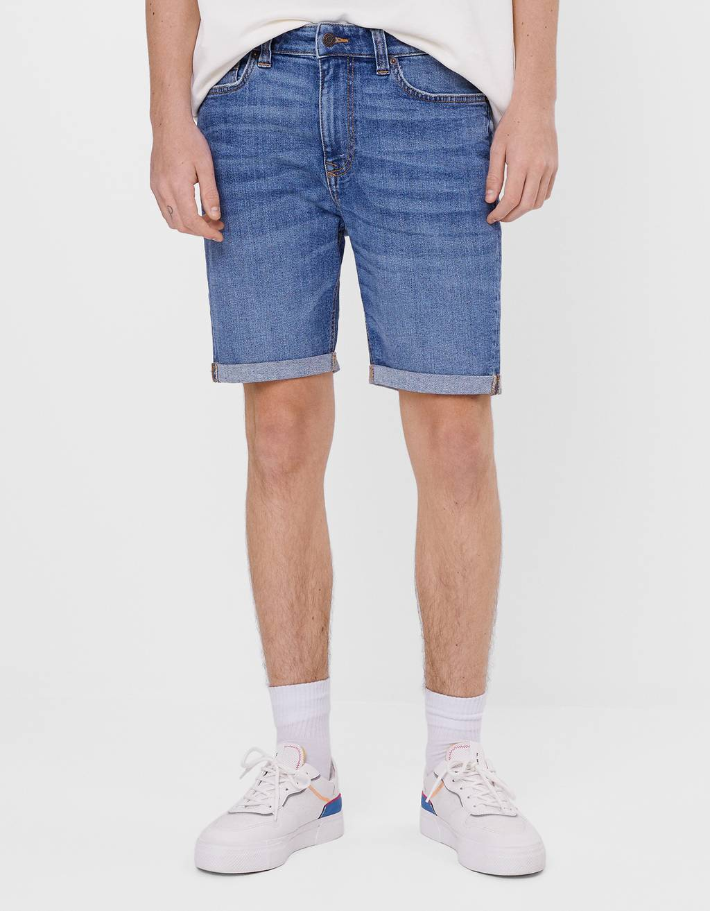 Bermuda en denim super skinny
