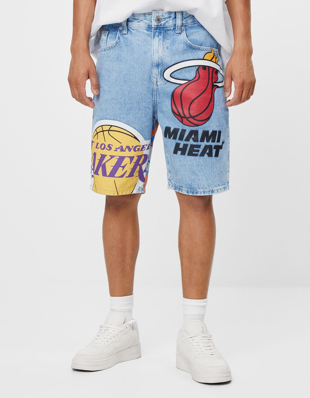 NBA denim Bermuda shorts
