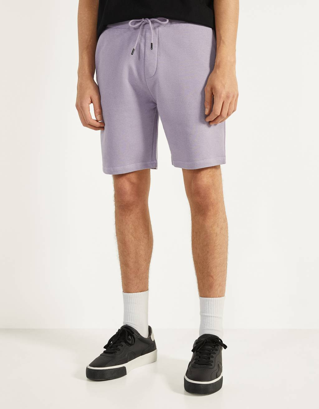 Plush Bermuda shorts