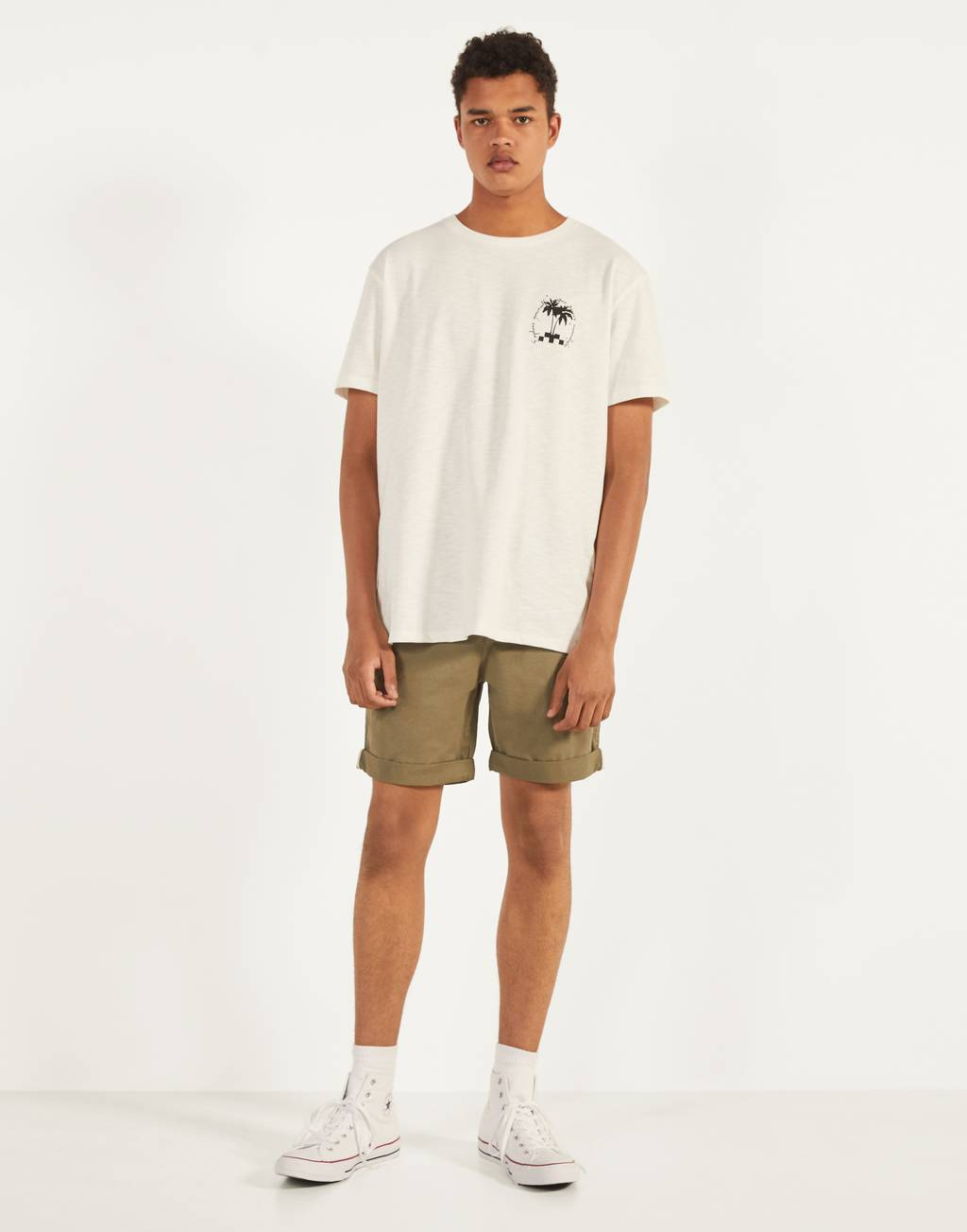 Belted Bermuda shorts - Trousers - Man