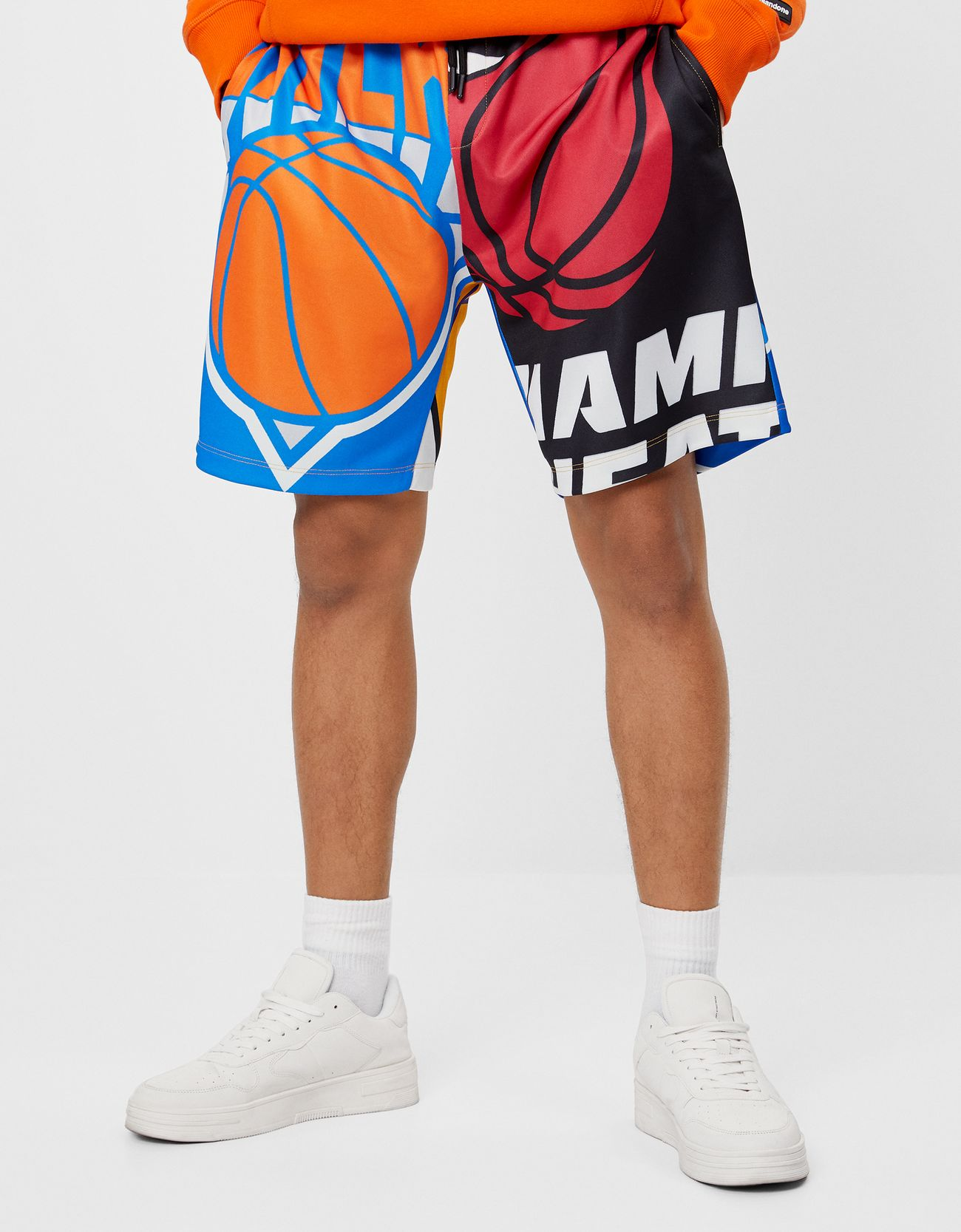 Nba Bermuda Jogging Shorts Join Life Bershka Turkey