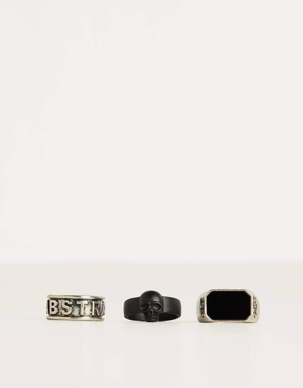 Súprava prsteňov slebkou