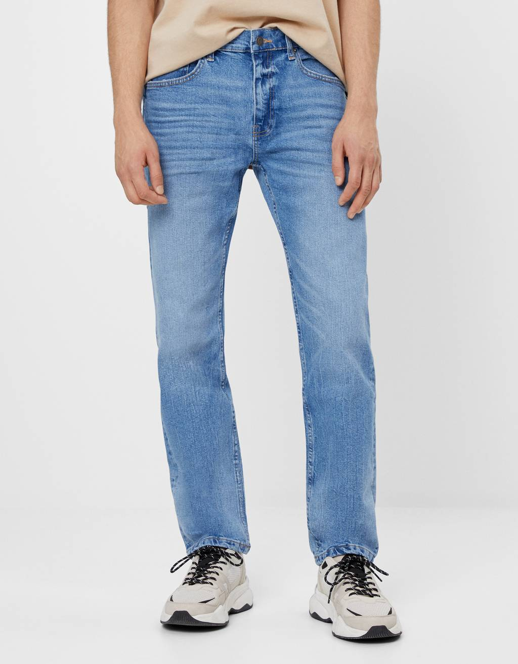 Jeans med straight fit