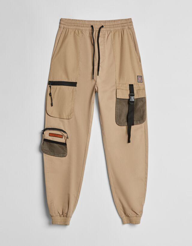 Pantalon Jogger Cargo Hombre Bershka