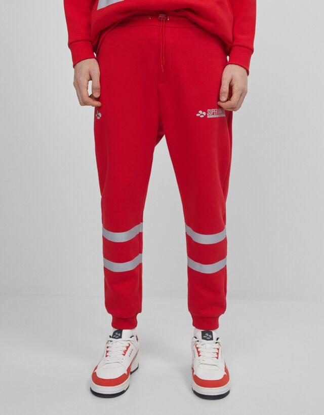 Super Nintendo Plush Trousers Man Bershka