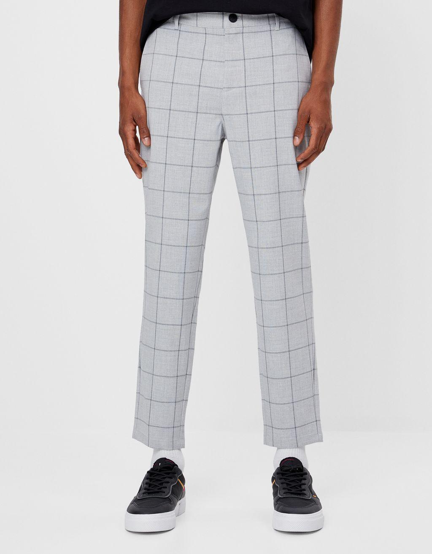 Geruite tailoring broek