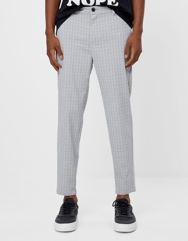 Kareli özel kesim pantolon