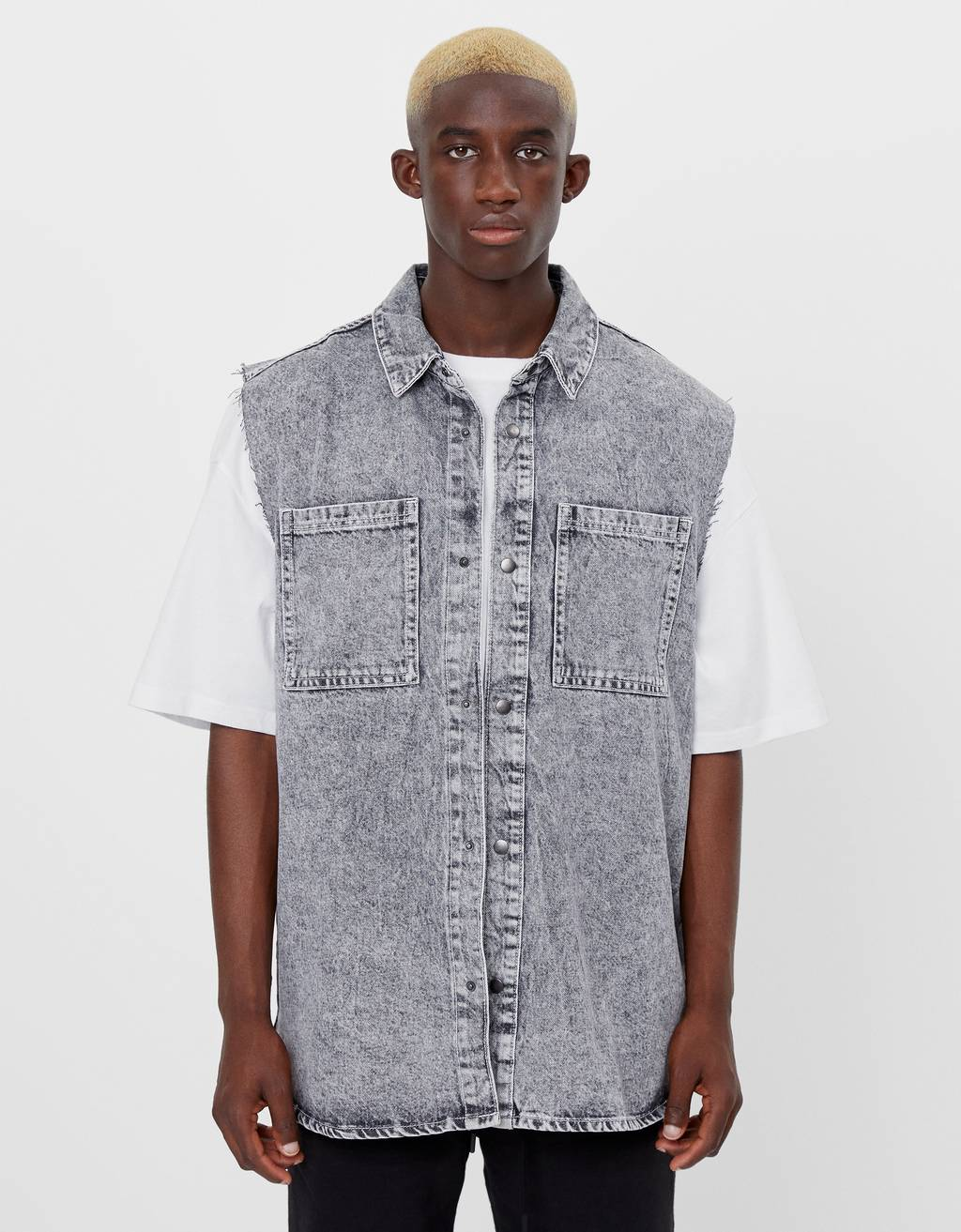 Camisa denim sense mànigues