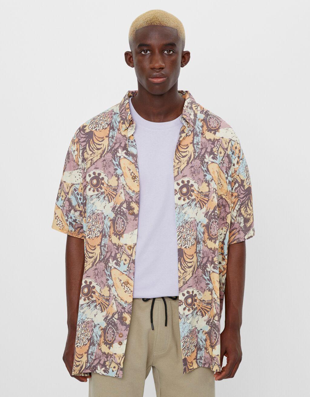 Skjorta med vintagemönster