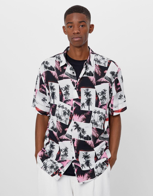 Košile s potiskem palem