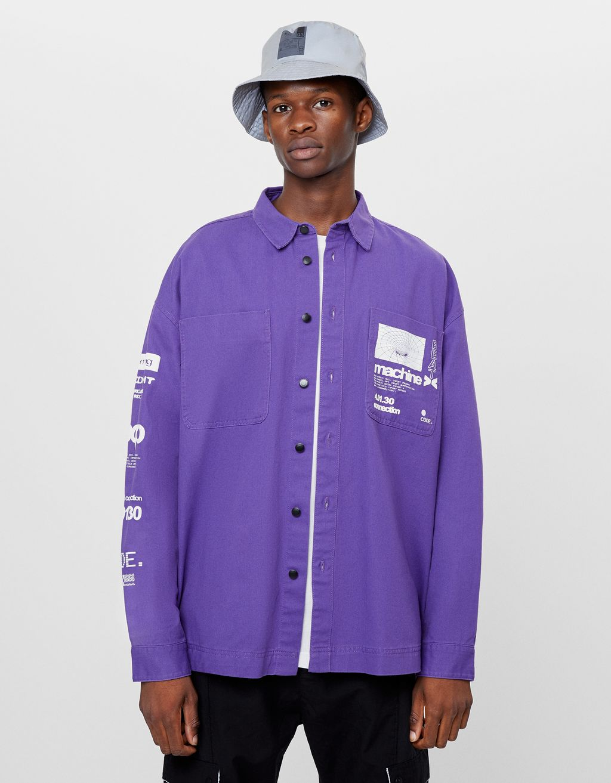 Printed overshirt