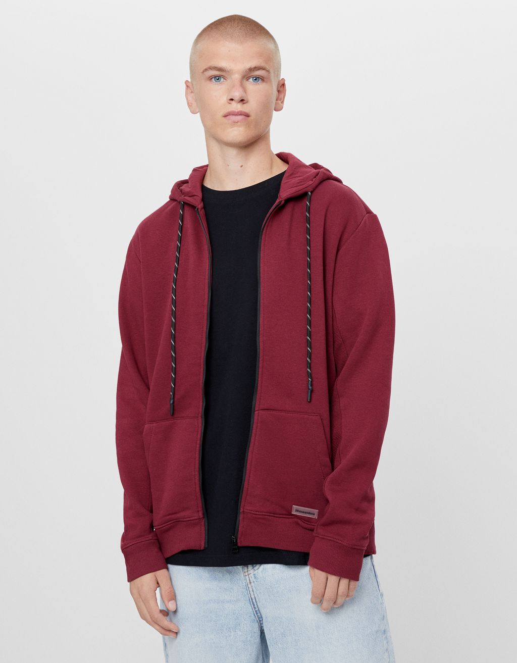 Plush hooded jacket