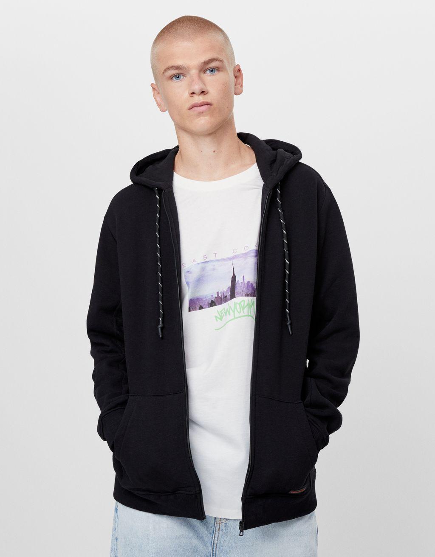 Plush hooded jacket