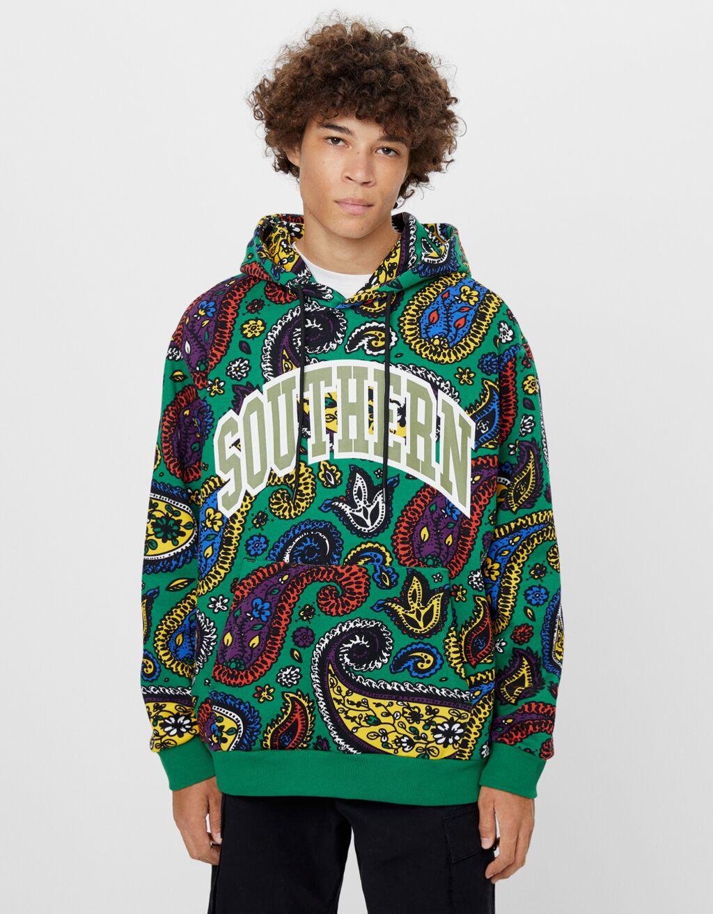 Paisley print hoodie - Man