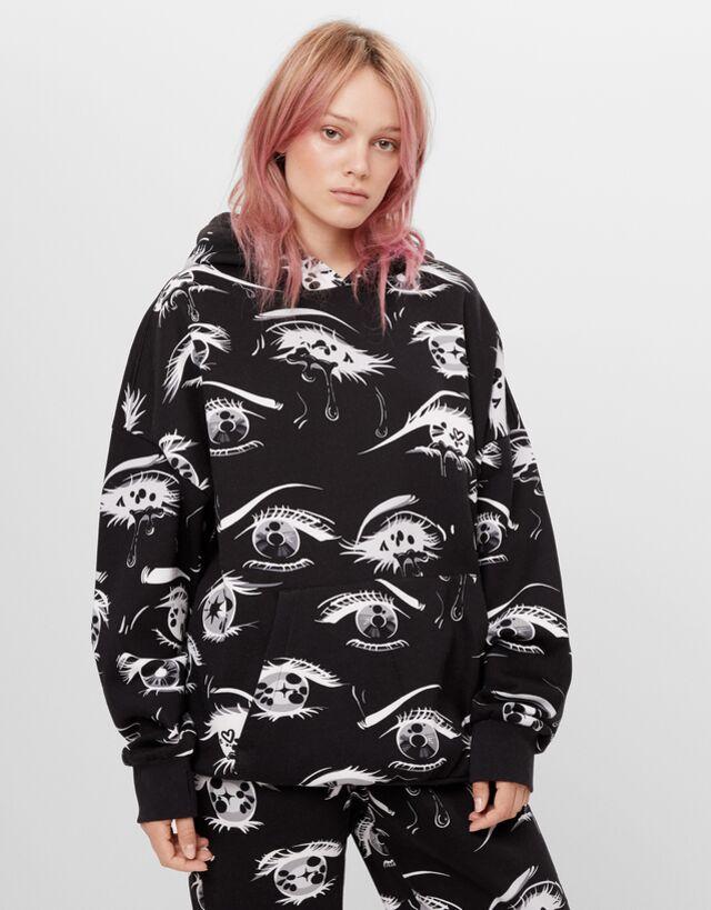Billie Eilish X Bershka Printed Sweatshirt Billie Eilish X Bershka Man Bershka